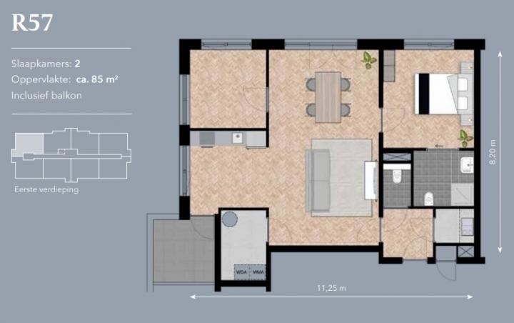 appartement 2 voorbeeld residentie
