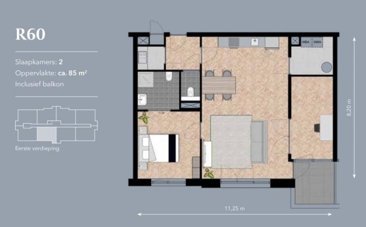 voorbeeld appartement Residentie